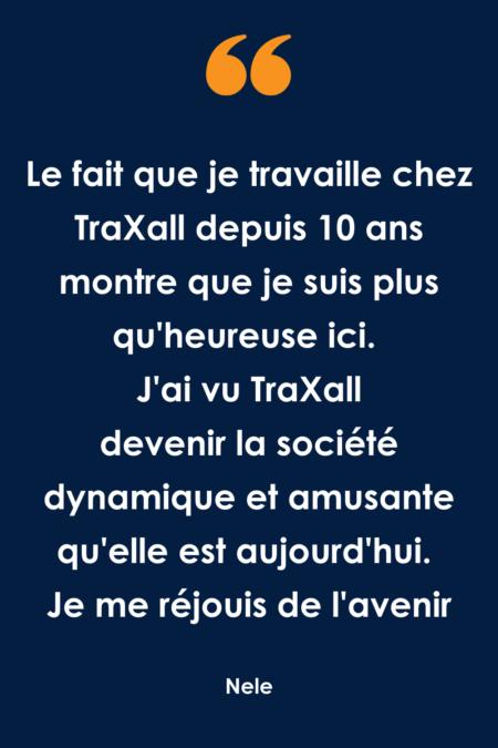 Que fait un chef d'équipe chez TraXall Belgium ?